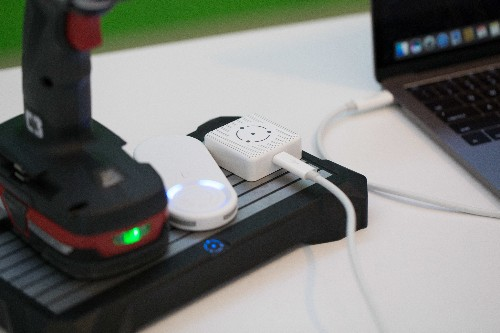 Fli Charge demonstrates its charging pad with Craftsman power tools