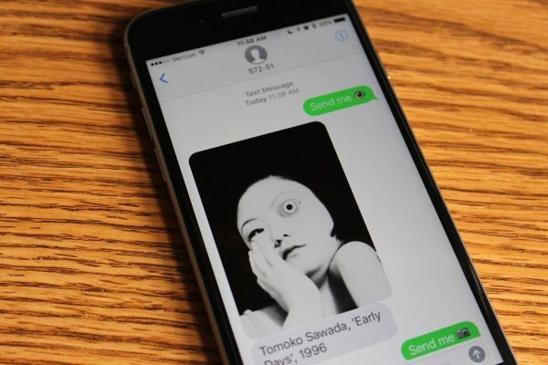 You can text SFMOMA and it will respond with art on demand