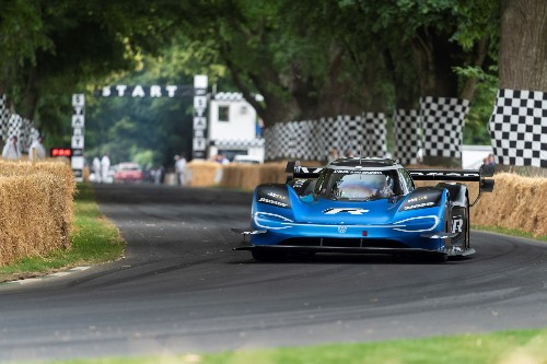 Volkswagen's ID R electric race car keeps breaking records, this time twice at Goodwood