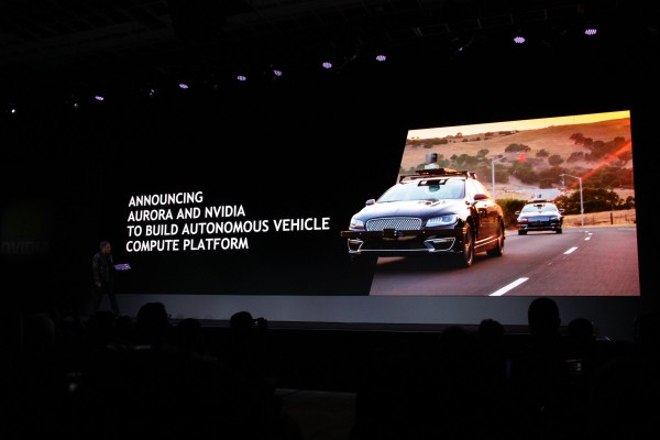 Self-driving startup Aurora will work with Nvidia on autonomous driving