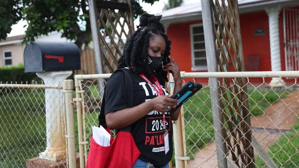UNITE HERE's Take Back 2020 Campaign Has Canvassers Like Bettylourde Guerrier Knocking on Doors in Florida