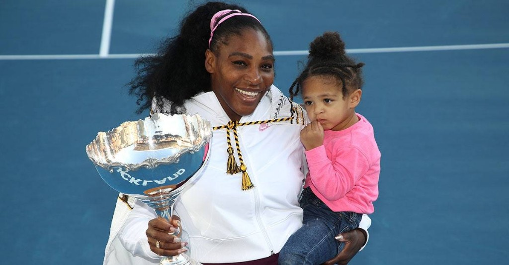 Serena Williams Documented Daughter Alexis Olympia's First Tennis Lesson