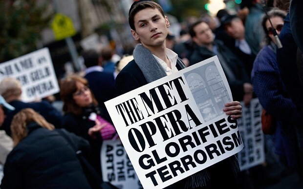 Protests and threats mark opening night of terrorism tale at New York's Metropolitan Opera