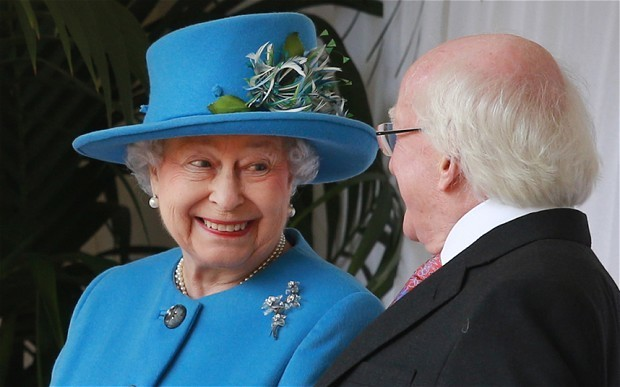 Queen welcomes Irish President Michael D Higgins on first state visit to Britain