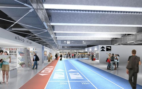 The airport where you can sprint to the boarding gates