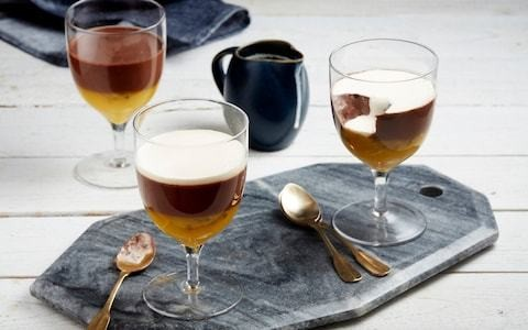 Chocolate panna cotta with passion fruit recipe