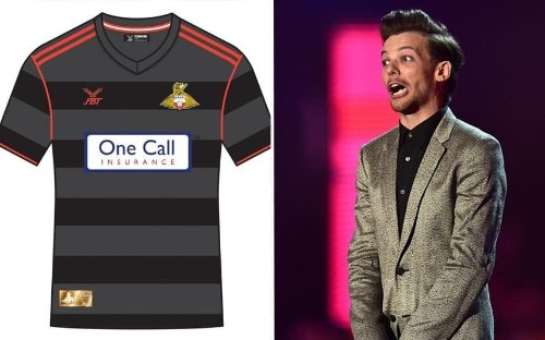 One Direction's Louis Tomlinson 'wins' competition to design new Doncaster kit - angry fans cry foul