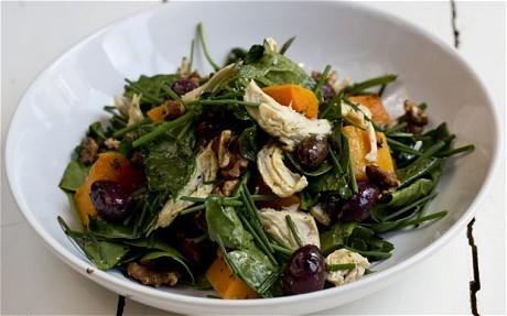Speedy weeknight suppers: chicken and butternut squash salad