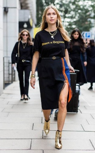 Gold or silver? Metallic shoes are the street style trend from LFW you can wear now