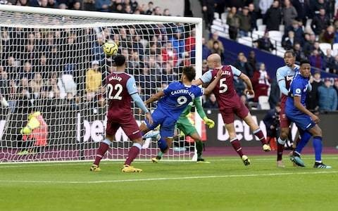 West Ham and Everton share the points with Dominic Calvert-Lewin on target