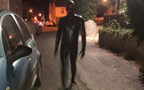 Man wearing rubber suit terrorises villagers in Somerset, as police make arrest