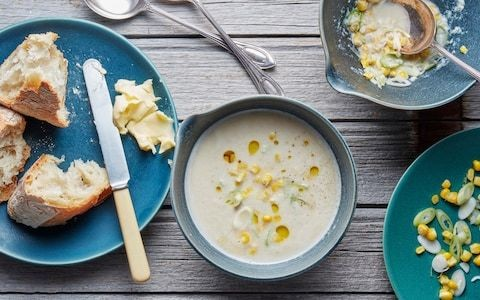 Chicken and sweetcorn soup with star anise recipe
