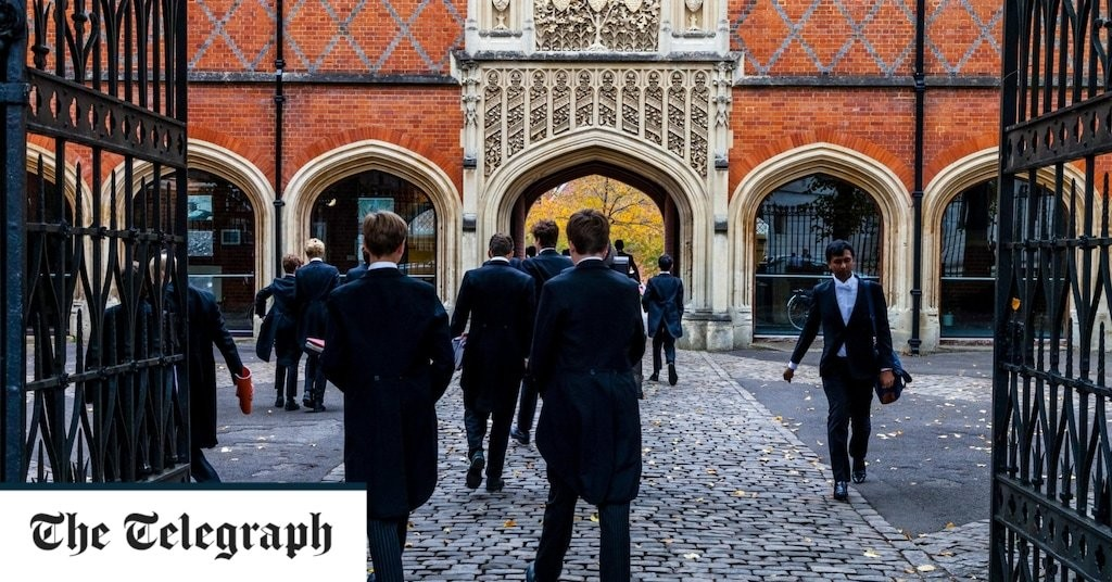 We should be grateful to those young Etonians for speaking out