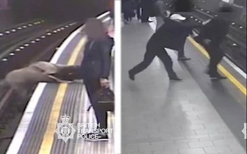 Ex-Eurotunnel boss sobs as homeless man who pushed him on Tube tracks is found guilty of attempted murder