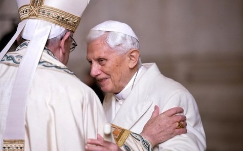 Pope Benedict demands his name be removed from controversial book seen as being critical of Pope Francis