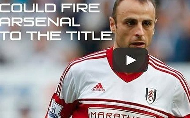 Fulham striker Dimitar Berbatov presses for Arsenal transfer with video post on his Facebook page