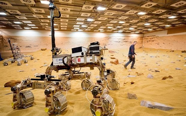 Bruno Mars: The British-made robot aiming to beat NASA to find life on the Red Planet - but is still 'confused' by craters