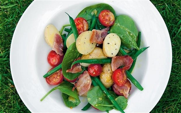 New potato salad with honey and rapeseed dressing recipe