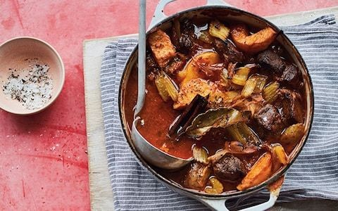 Slow-cooked lamb with golden quince recipe
