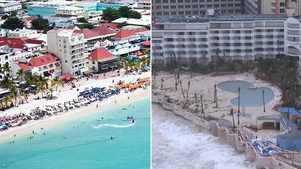 Hurricane Irma: Saint-Martin before and after historic storm