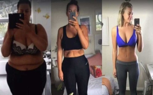 Woman captures incredible weight loss transformation in selfies