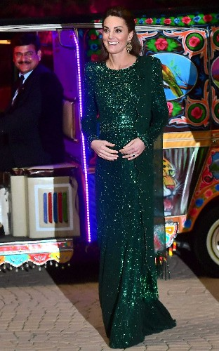 The Duchess of Cambridge's Pakistan tourdrobe: Kate dazzles in Jenny Packham