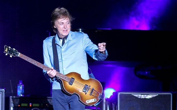 Sir Paul McCartney performs classic Beatles songs live for the first time