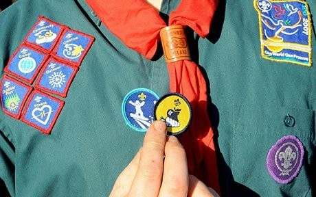 Scouts earn badges for disability tests and geocaching