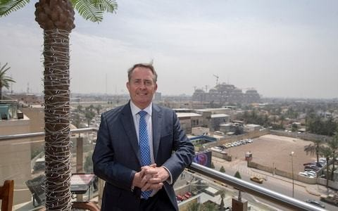 Liam Fox calls on British firms to help rebuild Iraq to honour the war dead