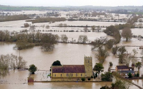 Sleet and snow set to worsen flooding woes, amid fears water won't drain away for weeks