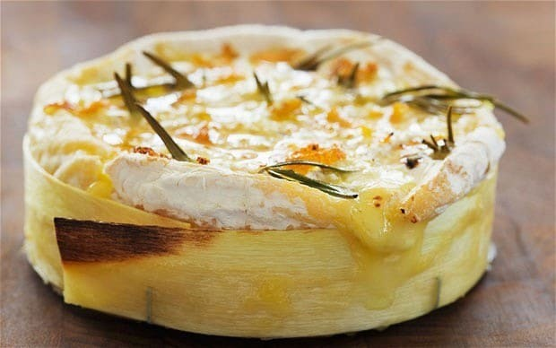 Baked cheese with garlic bread recipe