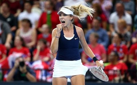 Johanna Konta and Katie Boulter show Fed Cup fighting spirit as Great Britain see off Kazakhstan to make World Group return after 26 years