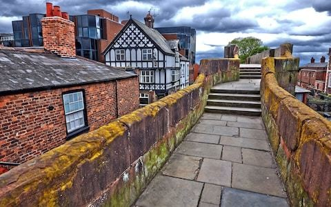 City of Chester installs contactless payment points so tourists can donate to upkeep of its Roman remains