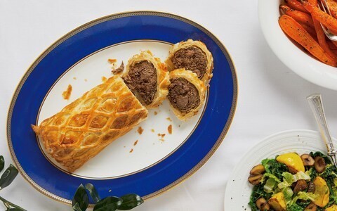 Venison and ox cheek wellington recipe