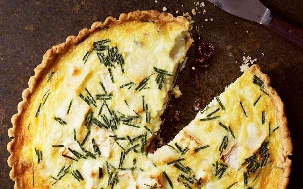 Goat's cheese and red onion tart recipe