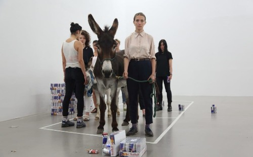 Anne Imhof: Sex, Tate Modern, review: modish, angsty performance art with the odd burst of beauty