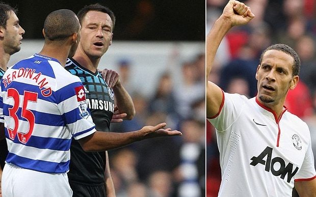 "Rio Ferdinand calls John Terry ""idiot."" thanks his own goal - more inside - Magazine cover"