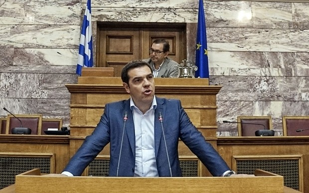 Alexis Tsipras launches scathing attack on IMF as Greek authorities vow to fight desperate state cash grab