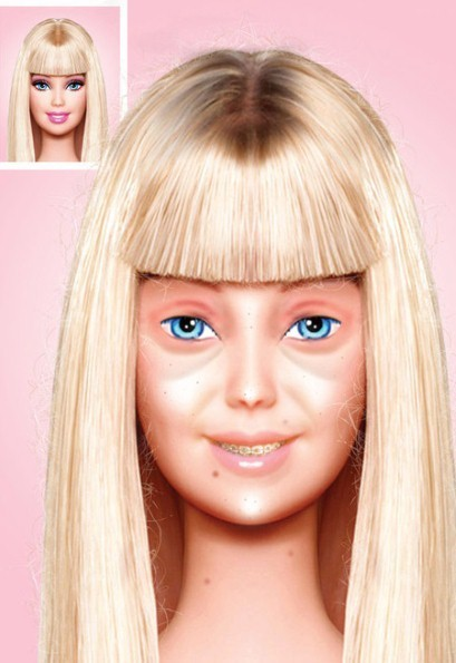 Bare-faced Barbie goes viral