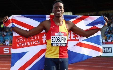 Ojie Edoburun shocks British rivals to claim men's 100m title in 10.18secs