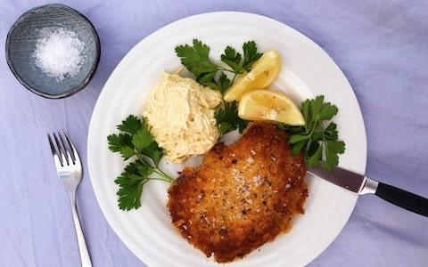 Friday night dinner: Crispy pork chops with celeriac remoulade