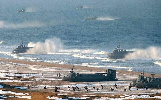 North Korea 'Photoshopped' marine landings photograph