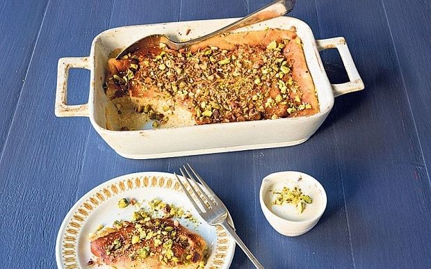 Yogurt cake with pistachios recipe