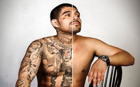 Amazing photos capture former gangsters without their tattoos