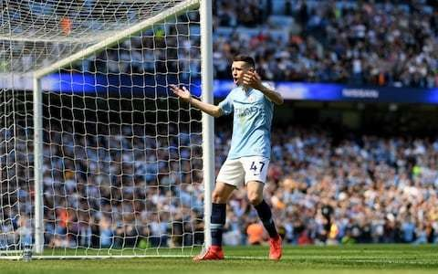 Phil Foden scores first Premier League goal as Man City hang on for revenge against Spurs