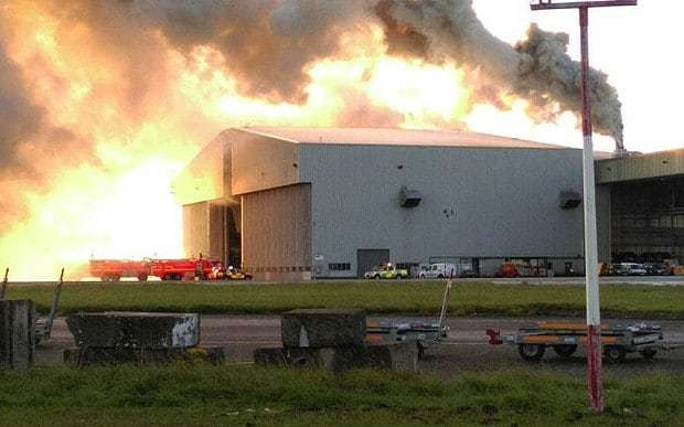 Fire breaks out in hangar at Dublin Airport