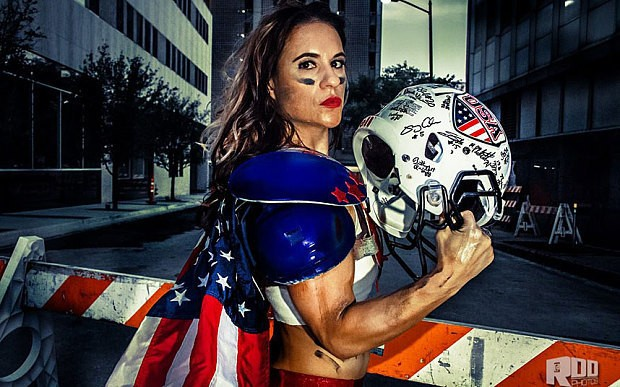 Jen Welter makes history as first female NFL coach