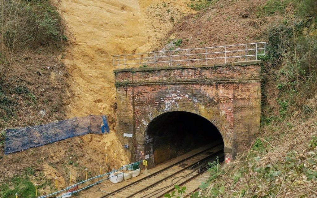 Medieval shrine from the 14th century discovered by rail workers following landslide