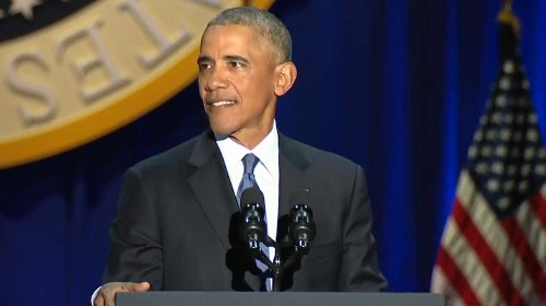 Barack Obama's farewell speech: President ends his leadership with urgent and fearful warning about the state of American democracy