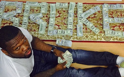 50 Cent in trouble for flaunting cash on Instagram - despite being bankrupt